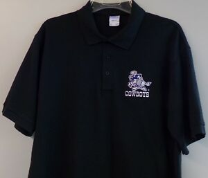 Image is loading NFL-Dallas-Cowboys-Vintage-Logo-Embroidered-Mens-Polo-