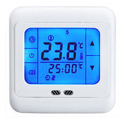 Raumthermostat LCD Touchscreen Thermostat Fußbodenheizung Digitaler Boden-Sensor
