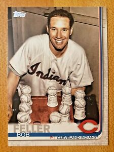 2019-Topps-Series-2-SSP-Photo-Image-Variation-Parallel-Bob-Feller-501-SP-RARE