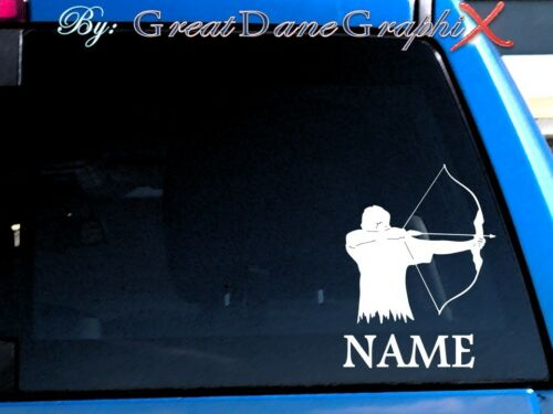 Archer Archery Style #1 PERSONALIZE Vinyl Decal Sticker-Color Choice-HIGH QLTY