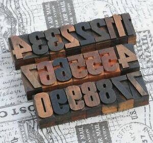 0-9-Zahlen-36mm-Holzlettern-Lettern-Holzzahlen-Zahl-Stempel-Vintage-shabby-Holz