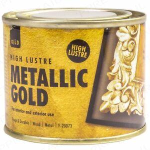 180ml High Lustre Metallic Gold Paint Wood Metal Interior Exterior Furniture Ebay