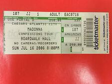 MADONNA - Ticket 16.07.2006 CONFESSIONS TOUR - ATLANTIC CITY USA