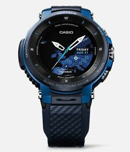 fa4342e34233 Casio Pro Trek Smart WSD F30 BU Blue G-shock Mens Watch Gear GPS EMS ...