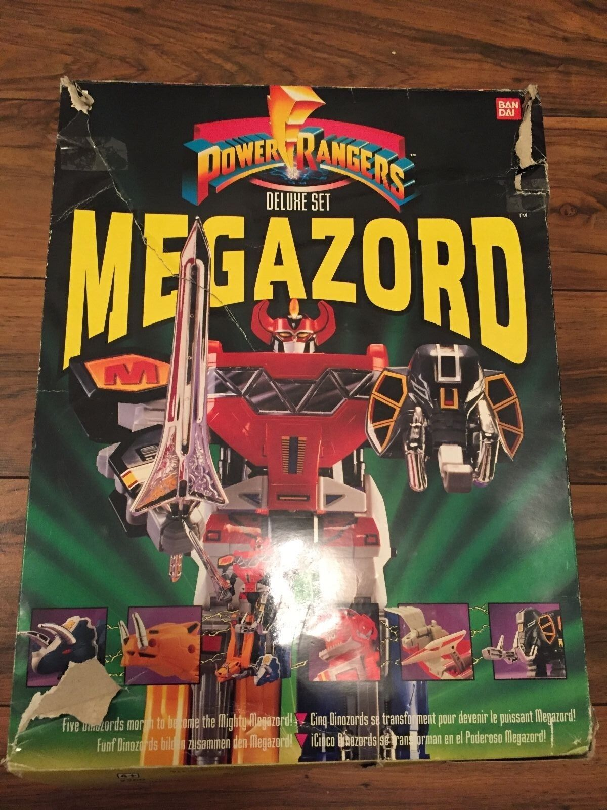 Power Rangers Megazord Deluxe Set Original 1993 with box 100% complete Toy RARE
