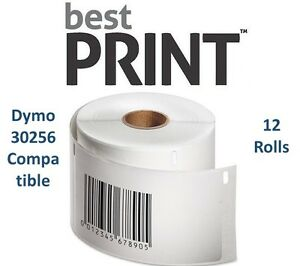 12-Rolls-of-300-Labels-2-5-16-034-x-4-034-For-DYMO-LabelWriter-30256-Compatible