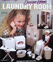 Plastic Canvas Fashion Doll Dream Home Laundry Room Patterns Tns