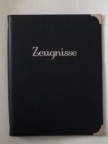 "Zeugnismappe mit Tiefprägung /""Zeugnisse/""blau bordeaux Kunstleder"