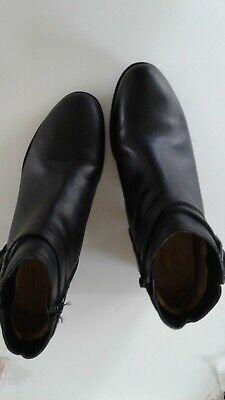 Black Leather (Kipling) Ankle Booties