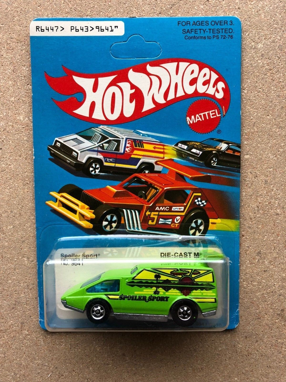 HOT WHEELS 1979 MATTEL HONG KONG GREEN SPOILER SPORT VAN UNPUNCHED