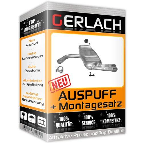 Auspuff für Audi A3 Sportback 2.0 TDi TD Schrägheck 04-08 Endschalldämpfer *2589