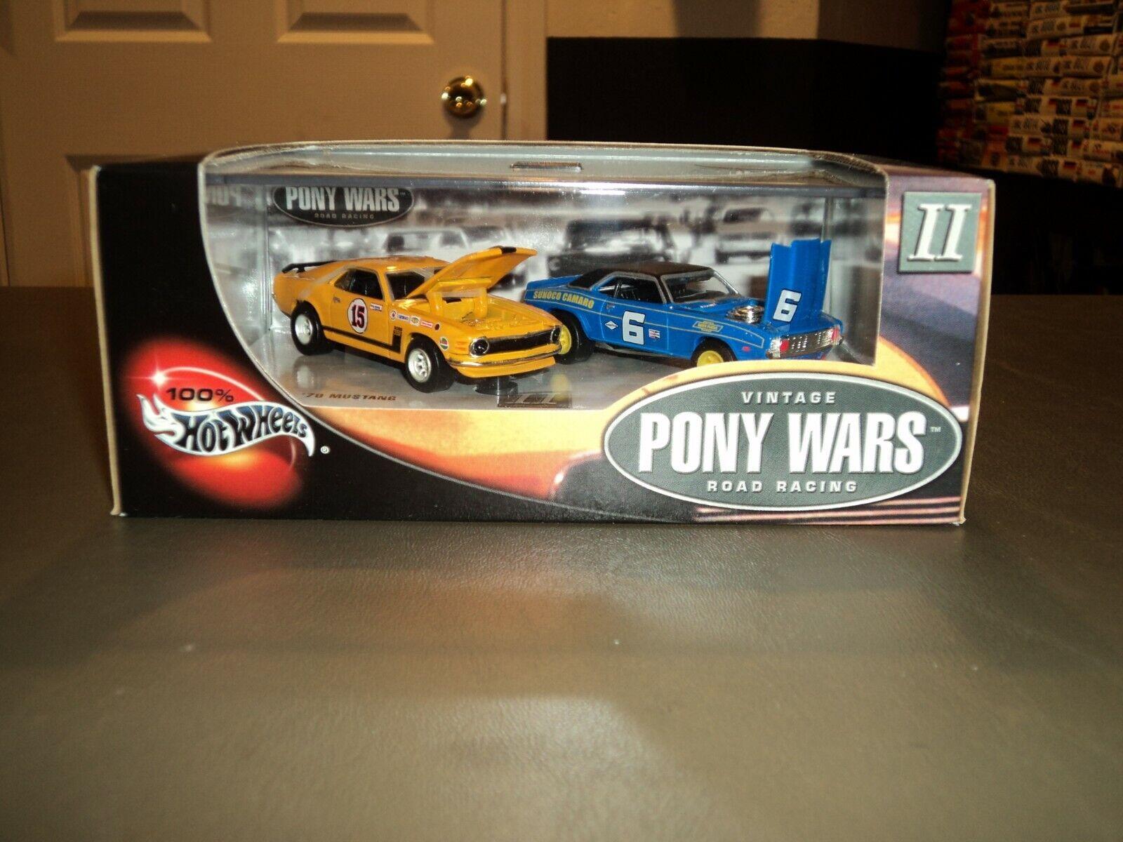 Nuevo 100% Hot Wheels Antiguo Pony Wars II carreras de carretera 53969 con caja de presentación