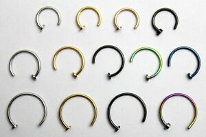 6mm-8mm-10mm-Nose-Ring-Lip-Ear-Body-Piercing-Jewelry-Colored-Open-Hoop-Bar-Screw