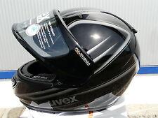 Motorradhelm Uvex  Boss Pola schwarz-anthrazit -shiny  Brillenträger !Gr XL