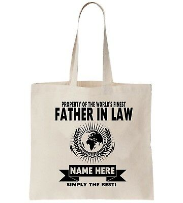 Father In Law Personalised Tote Bag Shopper Thanks Amend Birthday Gift