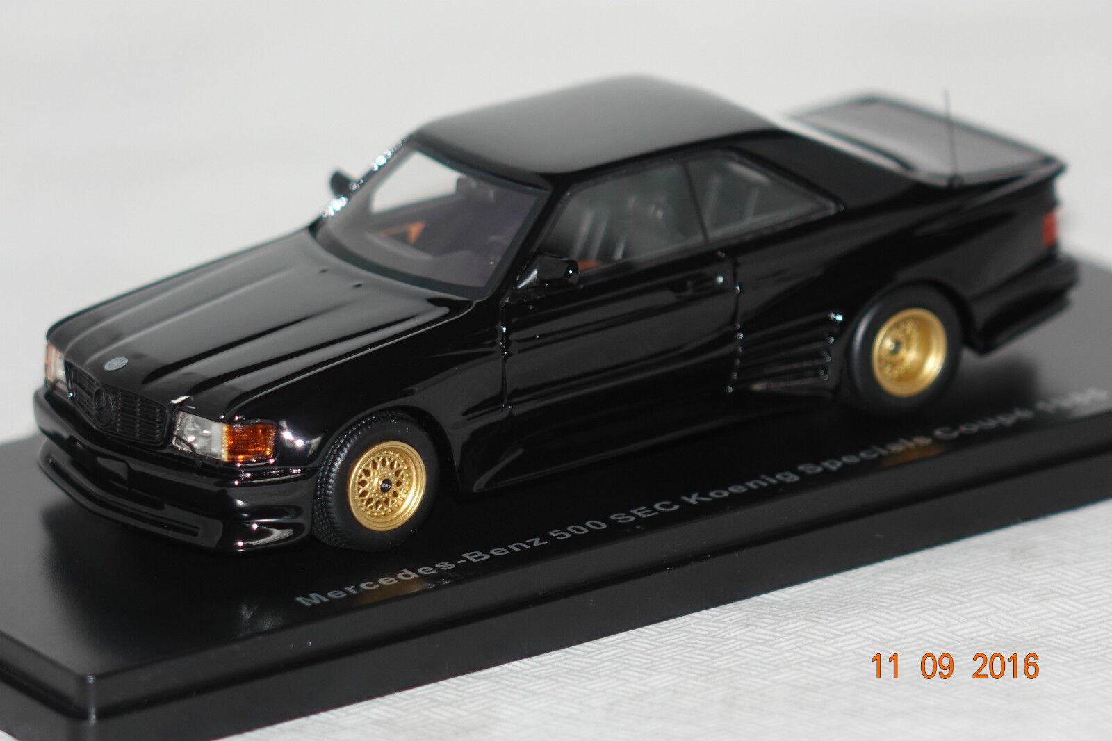 MERCEDES 500 sec Koenig spécial Coupe 1985 Noir 1:43 Neo NOUVEAU & OVP 46600 | Une Performance Supérieure