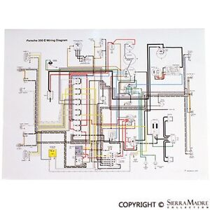 356c wiring diagram wiring diagramfull color wiring diagram, porsche 356c sc (64 65) ebayimage is loading full