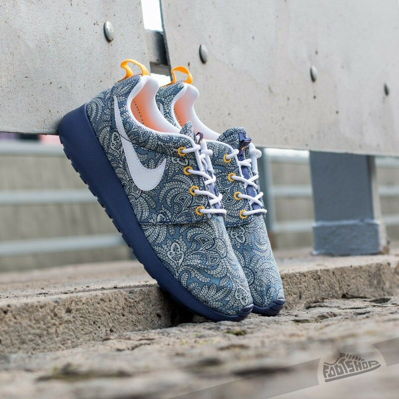 Nike Roshe Run Da Donna LIBERTY of London Blue RECALL/Bianco QS