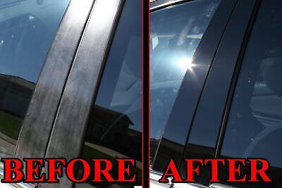 8pc Set Cover Door Trim Window 4dr BLACK Pillar Posts for Hyundai Accent 06-11