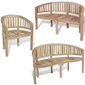 Wondrous Details About Banana Garden Chair Solid Teak Wood Curved Armchair Patio Outdoor Bench Chairs Machost Co Dining Chair Design Ideas Machostcouk