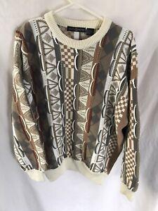 Herren Vintage Cape Isle Knitters Sweater 3d Bill Cosby COOGI like Strick schwere große