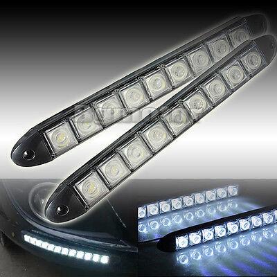 2x 9 LED Car DRL Bright Driving Daytime Running Fog Day Light Head Lamp 12V