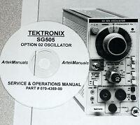 Tektronix Sg505 Opt 02 Instruction (serv. & Ops) Manual