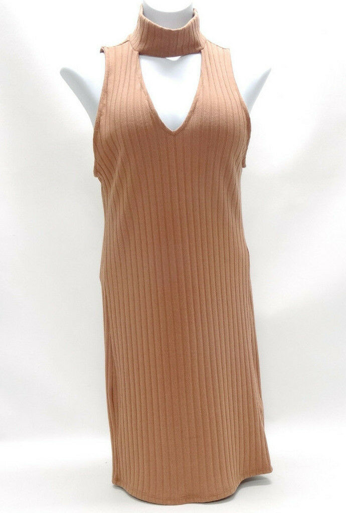 KENDALL & KYLIE RIBBED MAUSE SLEEVE-LESS DRESS SIZE MEDIUM - EUC