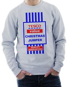TESCO VALUE CHRISTMAS JUMPER HALLOWEEN COSTUME MENS LADIES FUNNY XMAS JUMPER