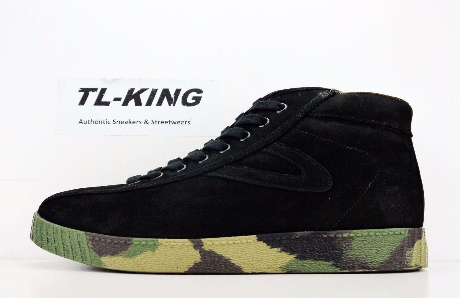 Tretorn NYLITE Hi Nubuck noir Camo Classic Casual Sneaker Msrp 90 DC