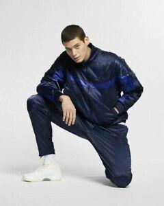 Nike Men's Jordan Retro Aj5 Satin Jacket Ar3130 451 Blue