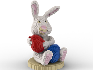 LEGO Easter Bunny statue building instruction