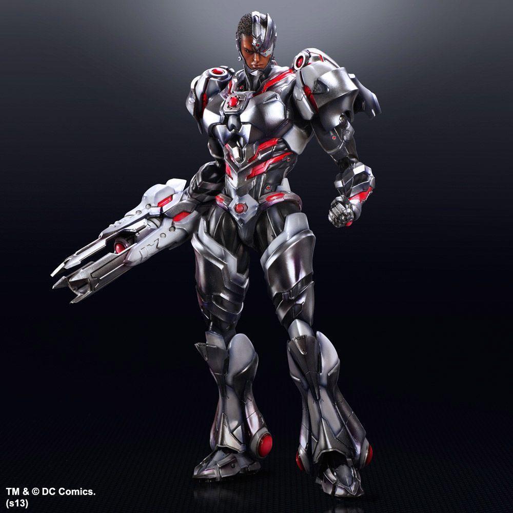 DC Square Enix Play  Arts Kai Justice League Cyborg Action Figure  préférentiel