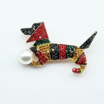 Cg4208 Stilisiert Brosche Einer Dackel Hund To Have A Long Historical Standing Modeschmuck Broschen & Anstecknadeln