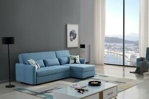 Incredible Details About 2Pc Modern Light Blue Velvet Fabric Sofa Chaise Sofa Bed Storage Sectional Set Onthecornerstone Fun Painted Chair Ideas Images Onthecornerstoneorg
