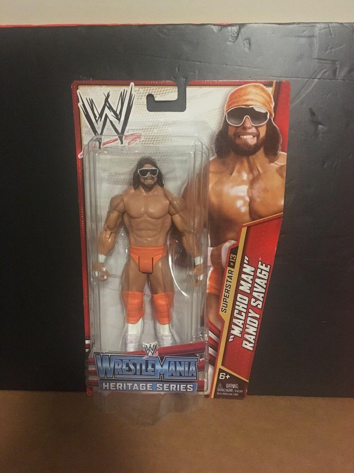 WWE MACHO MAN RANDY SAVAGE - WRESTLEMANIA 5 HERITAGE Basic SERIES 26 Figure Rare