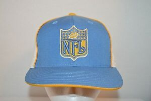 c07f1284a Charges NFL Shield Logo Reebok Blue White Fitted Hat/Cap Size 7 1/4 ...