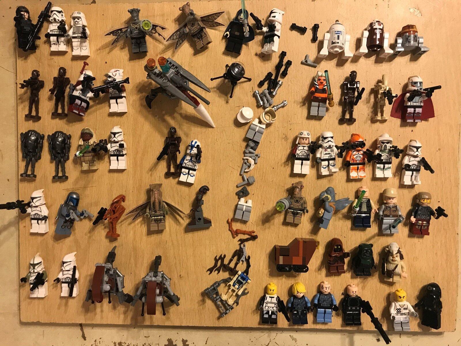 50 LEGO STAR WARS MINIFIGURES JOB LOT BUNDLE 75015 75016 75083 9488 75002 9491 +