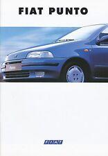 Fiat Punto Prospekt 5/94 brochure 1994 Auto PKWs Broschüre Italien Autoprospekt