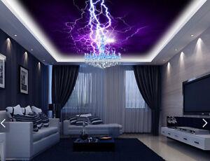 3D-Purple-Lightning-Light-89-Wall-Paper-Wall-Print-Decal-Wall-Deco-AJ-WALLPAPER