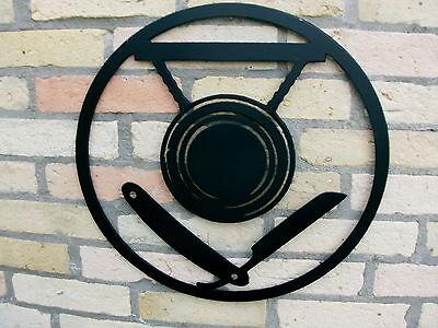 Innungsschild aus 3 mm STAHL Handwerkszeichen Zunftzeichen MALER