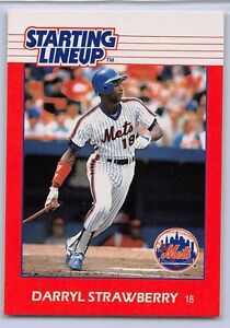 1988  DARRYL STRAWBERRY - Kenner Starting Lineup Card - NEW YORK METS