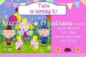 Ben-amp-Holly-Little-Kingdom-Party-Personalised-Birthday-Invitations-DIY-Printing
