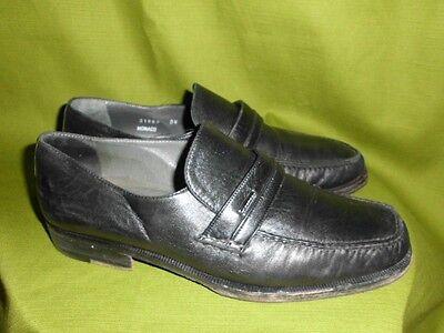 Moreschi Monaco Herrenschuhe Gr. 40,5 US 7,5 schwarz Made in Italy Leder