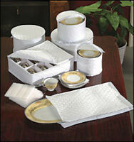 Quilted Padded China Serving Platter 12 Service Plate Dish Storage Bag Box Lot