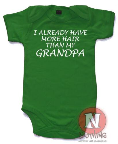 Naughtees clothing I Already Haben Mehr Haar Than Großvater Strampler Baby Anzug