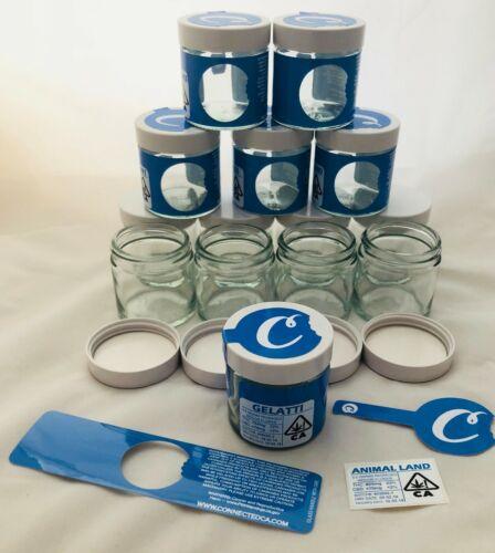 pots inclus /& Étiquettes Cali RX bocal en verre 3.5 g Connecté Cookies SF style 60 ML