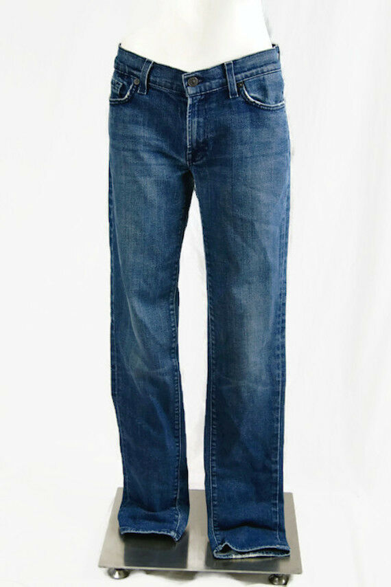 7 For All Mankind Jeans Denim Women's Roxanne Skinny Ankle Stretch 31 Distressed