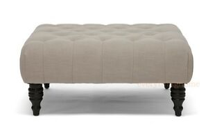 Remarkable Details About Square Cocktail Coffee Table Ottoman Beige Linen Button Tufted Bench Modern Wood Squirreltailoven Fun Painted Chair Ideas Images Squirreltailovenorg