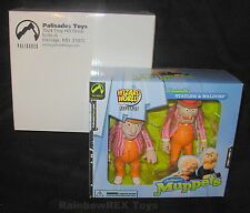 VAUDERVILLE STATLER & WALDORF MUPPETS WIZARD WORLD EXCLUSIVE w/ OUTER BOX MIB